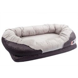 Barks Bar Grey Orthopedic Dog Bed