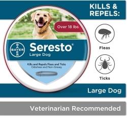 Bayer Seresto Flea and Tick Collar for Dogs